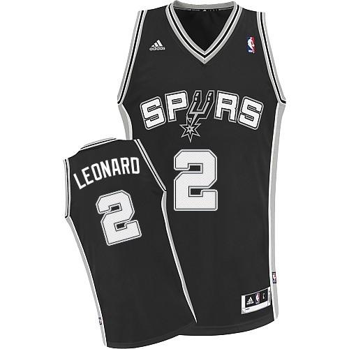 Kawhi Leonard Road Swingman NBA Jersey - Black Adidas Spurs Jersey