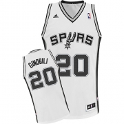 Adidas Manu Ginobili San Antonio Spurs Youth Swingman NBA Jersey - White 89e89dd00