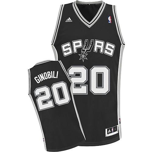 size 40 aae67 c8165 Manu Ginobili Youth Swingman NBA Jersey - Black Adidas Spurs ...