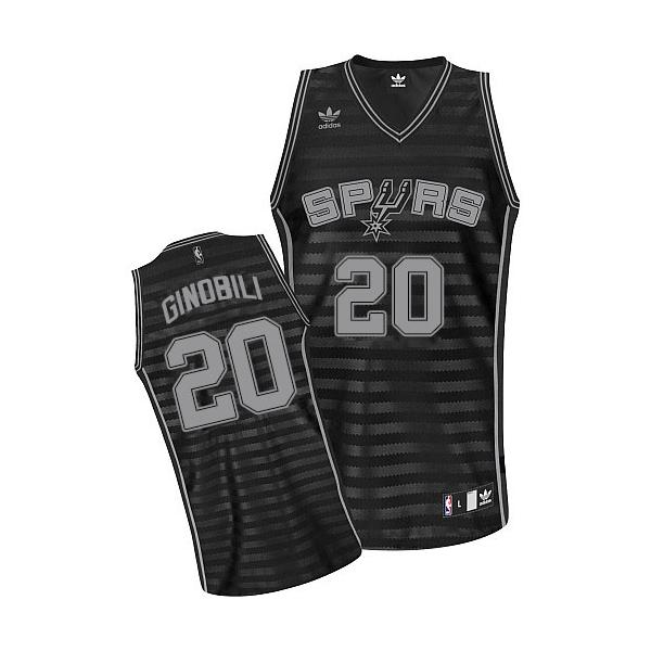 Adidas Manu Ginobili San Antonio Spurs Swingman Grey Groove NBA Jersey -  Black 2c80b86e3